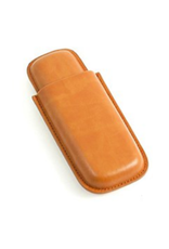 2 Cigar Case Tan Leather