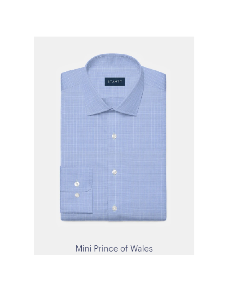 Stantt 1A Blue Mini Prince of Wales Check