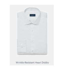 Stantt 2A White Heart Dobby
