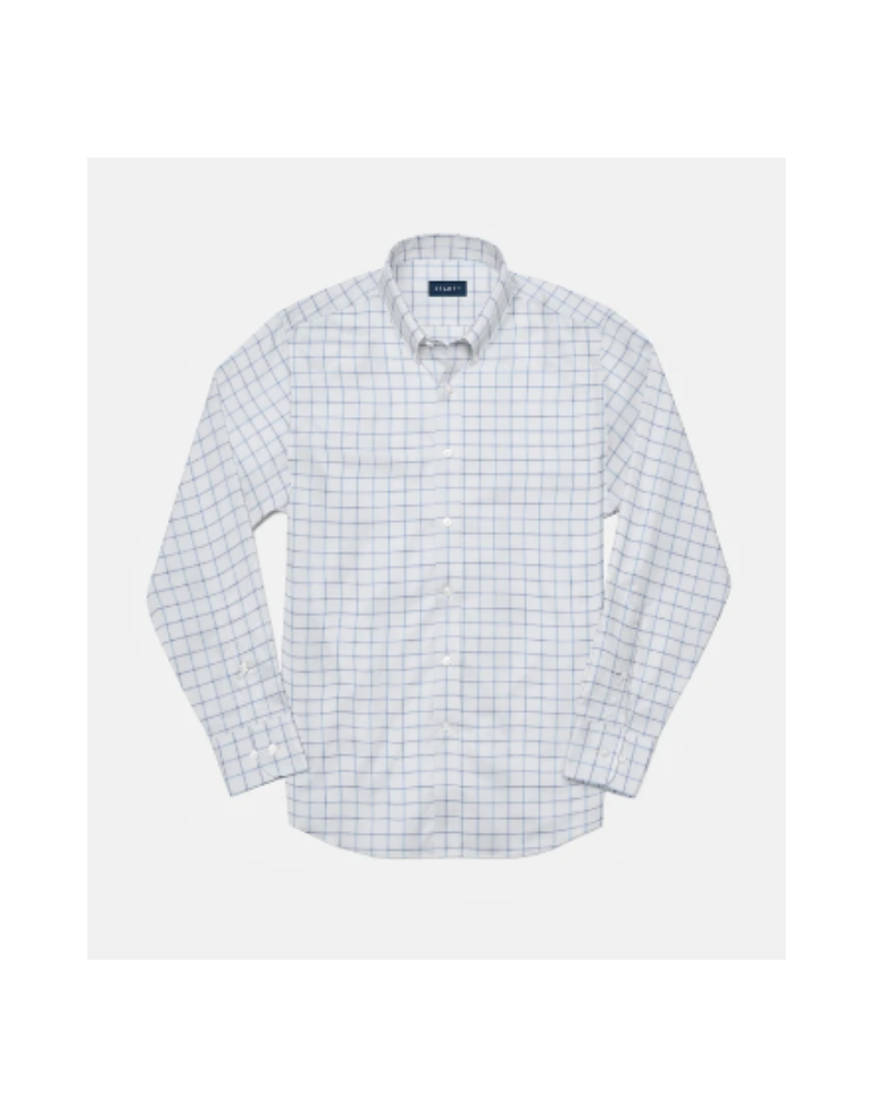 Stantt 2A Top Dye White and Blue Windowpane