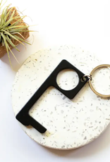 No Touch Keyring Black