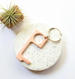No Touch Keyring Rose Gold