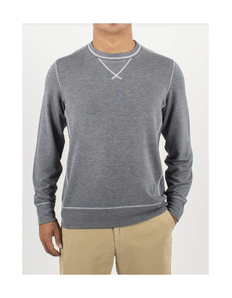 Crew Neck L/S - Dark Grey