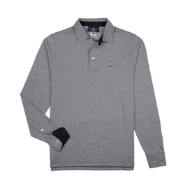 PB Ealing Polo LS - Navy/Grey
