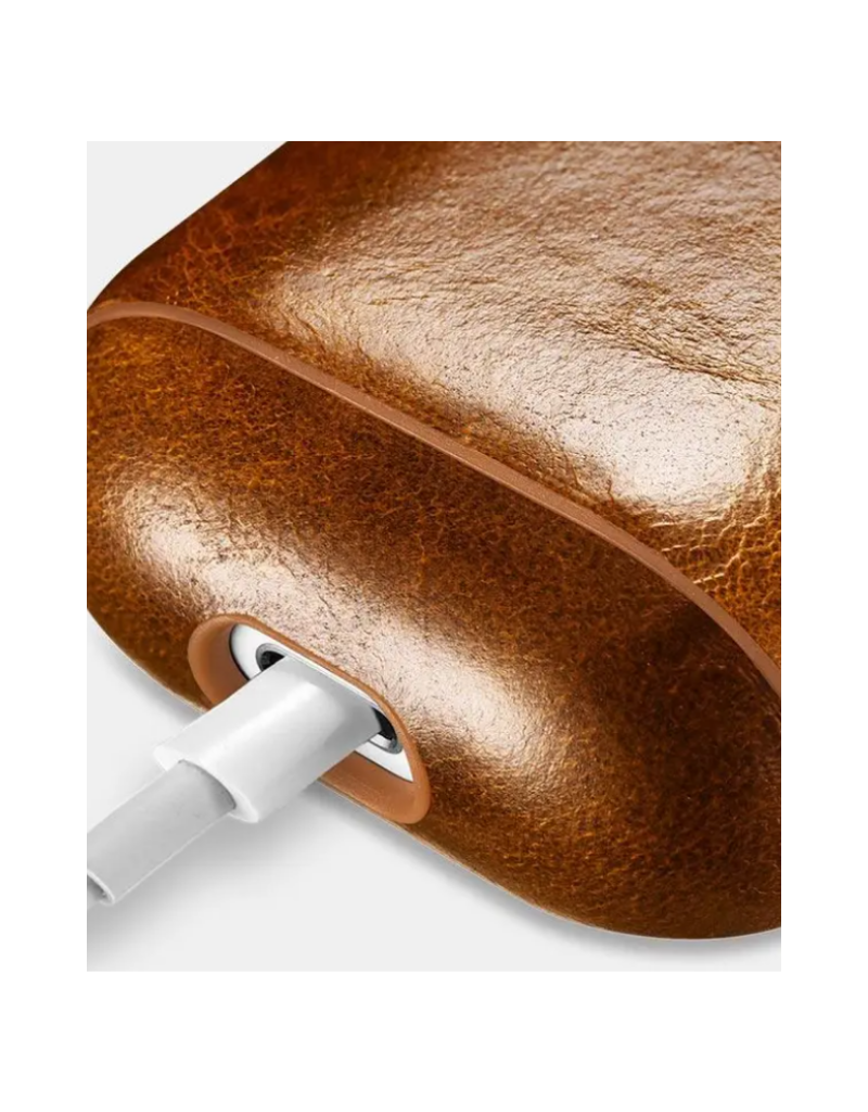 Cairpods Premium Leather AirPods Case - Light Brown