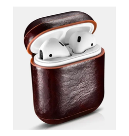 Cairpods Premium Leather AirPods Case - Dark Brown