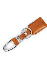 Mad Man Leather Bluetooth Tracker Key Chain Brown