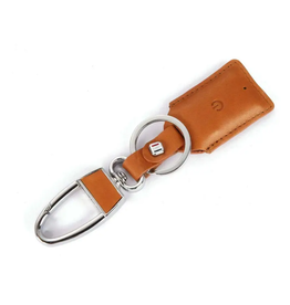 Leather Bluetooth Tracker Key Chain Brown