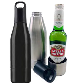Stainless Bottle Cooler - Black