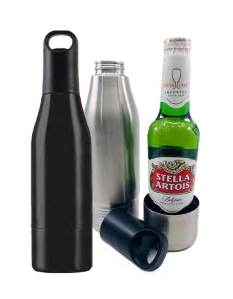 Mad Man Stainless Bottle Cooler - Black