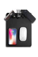 Mad Man Charging Mousepad Black