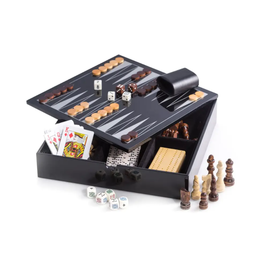 Multi Game Set - Black Lacquered