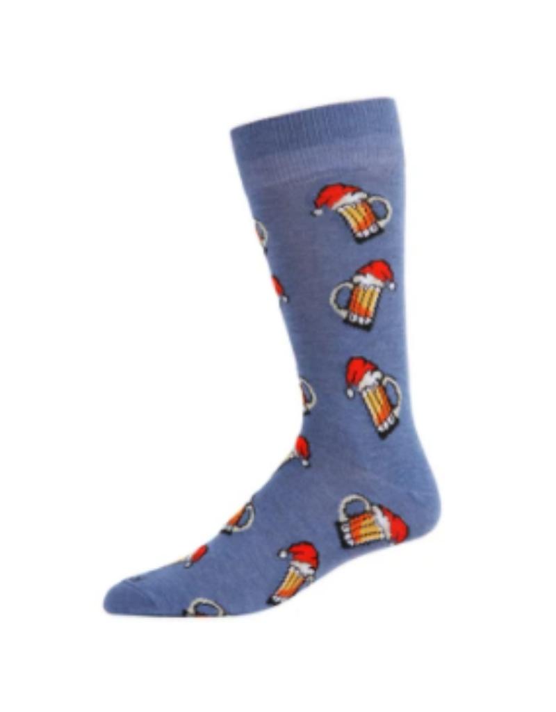 Santa Beer Mugs Socks
