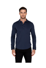 Raffi Raffi Aqua Cotton Polo LS - Midnight