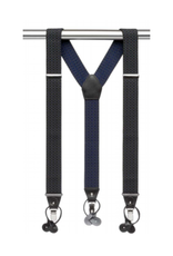 MB Suspenders - Black with Circle Detail