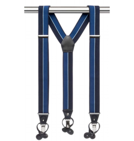 MB Suspenders - Blue / Navy Striped