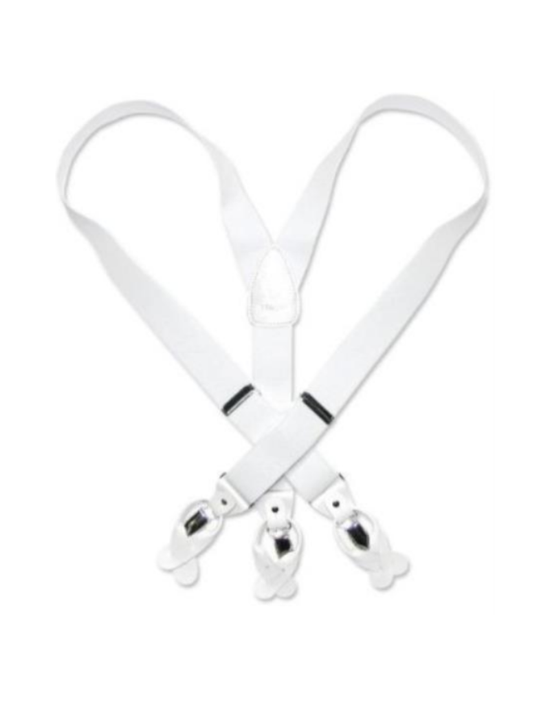 MB Suspenders - White Solid
