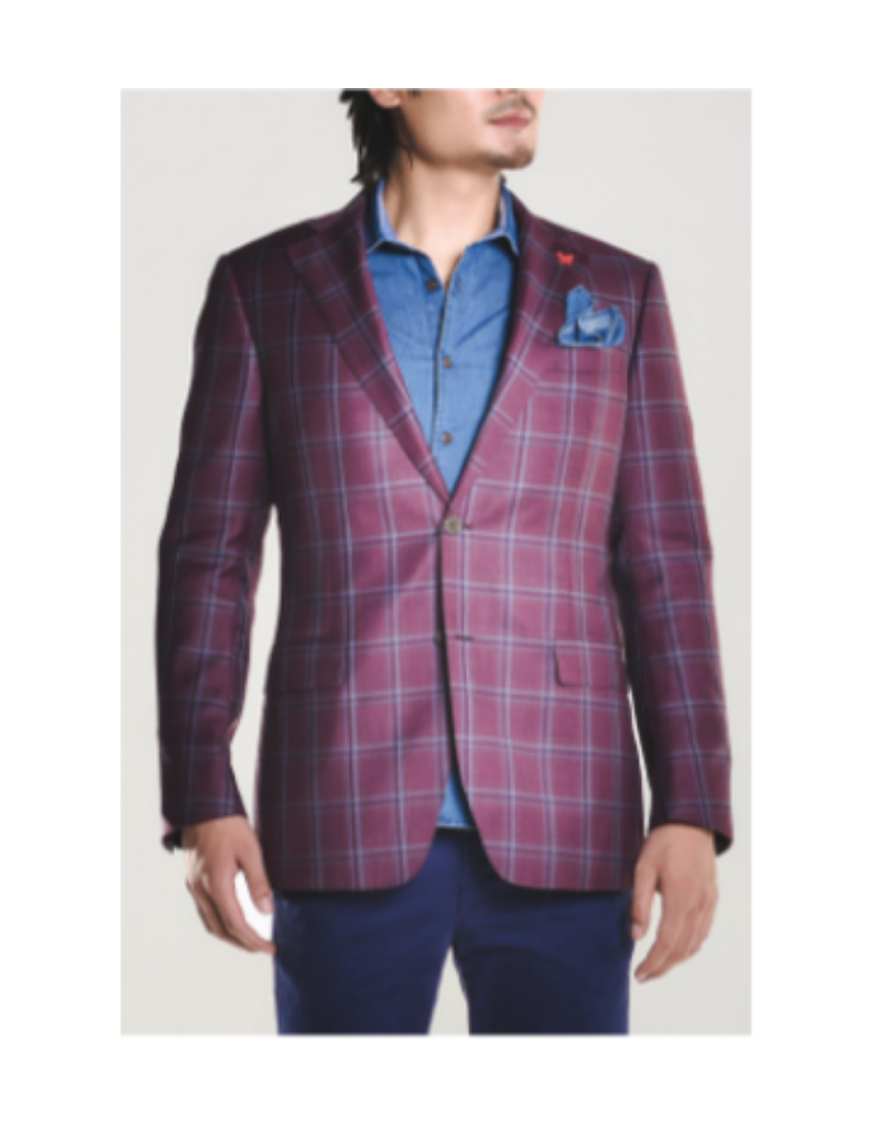 Cardinal Cardinal Wool Burgundy Plaid 38R