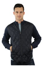 Raffi Quilted Jacket  - Navy Solid