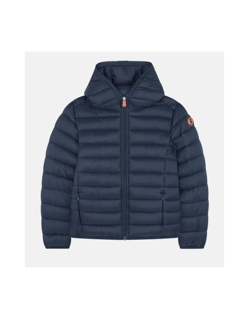 Boys Hooded Lightweight Jacket - Black