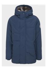 Winter Artic Hooded Fur Lined Jacket - Navy