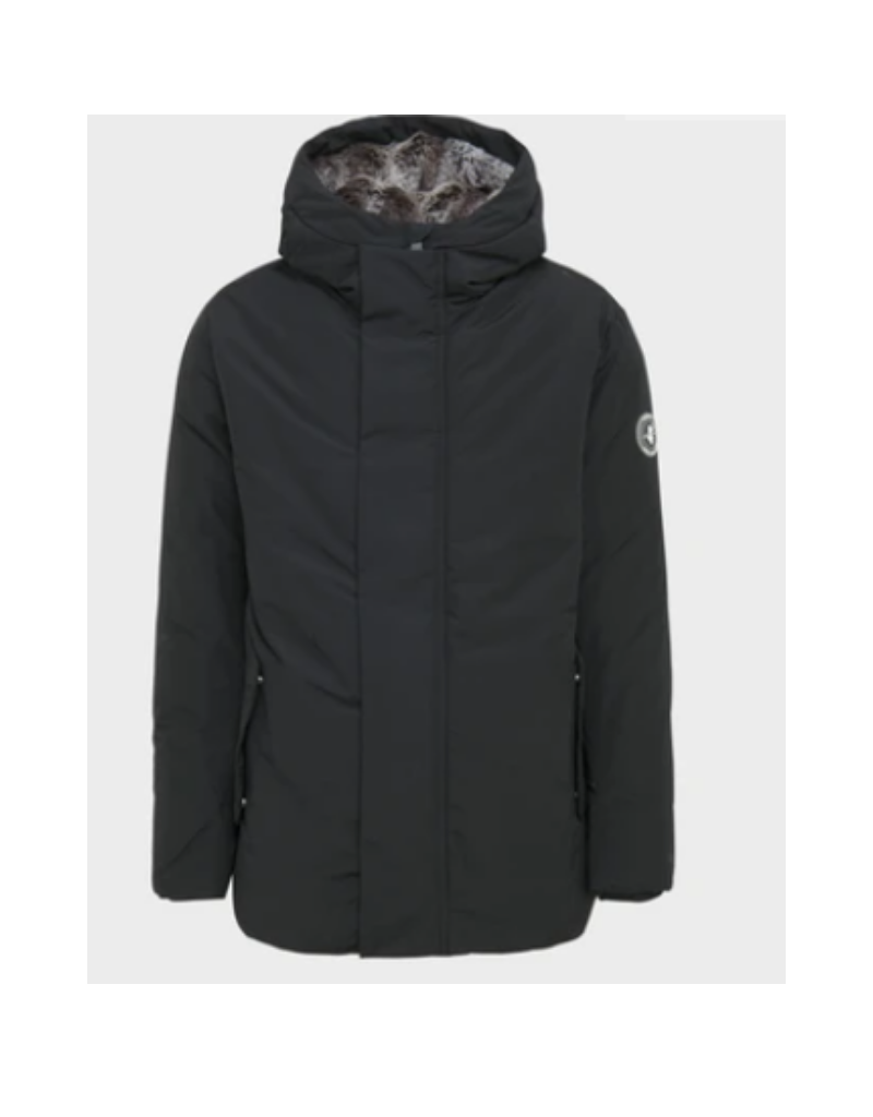 Winter Artic Hooded Fur Lined Parka - Black