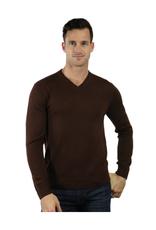 Raffi Merino Wool V Neck - Brown