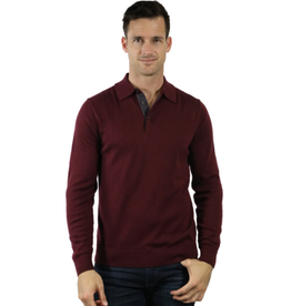 Raffi The Palmer Merino Mock 1/4 Zip - Wineberry