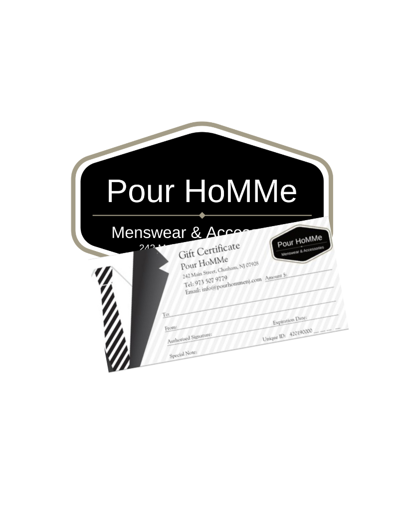 Pour HoMMe GIFT CERTIFICATE $150