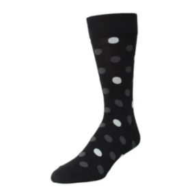 Black Grey White Polka Dot Socks