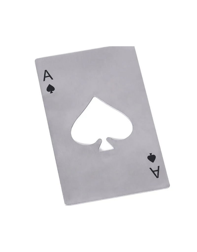 Mad Man Ace of Spades Bottle Opener- Silver
