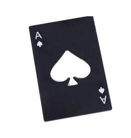 Ace of Spades Bottle Opener- Black