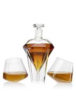 The Wine Savant Diamond Decanter Set