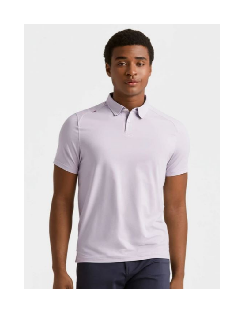 Rhone Commuter Sports Polo - Red/White Dot