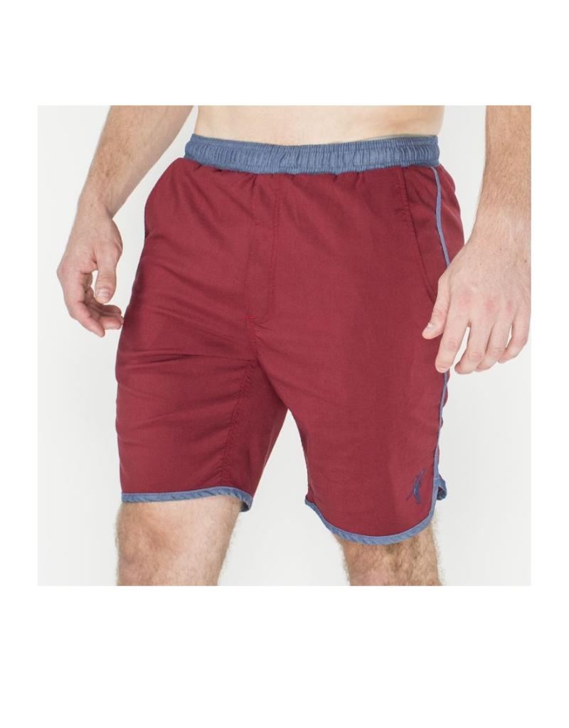 Volley Swim Shorts - Red / Navy