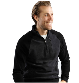 7 Downie St - Polaris 1/4 Zip  - Black
