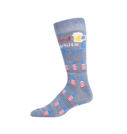 Red White and Brew Blue socks