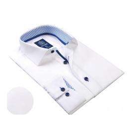 Avenue 21 Dress Shirts - White/Blue Trim
