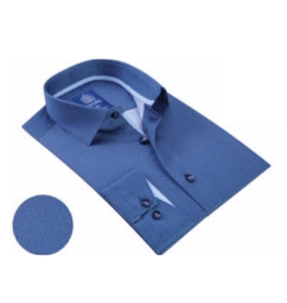Avenue 21 Dress Shirt - Deep Blue/Light Blue Trim