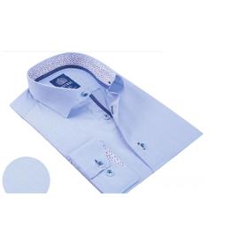 Avenue 21 Dress Shirt - Light Blue/Confetti Trim