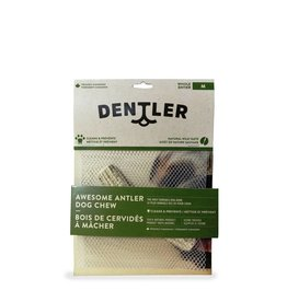 DENTLER Dentler Split Antler Dog Chew Natural Wild Taste