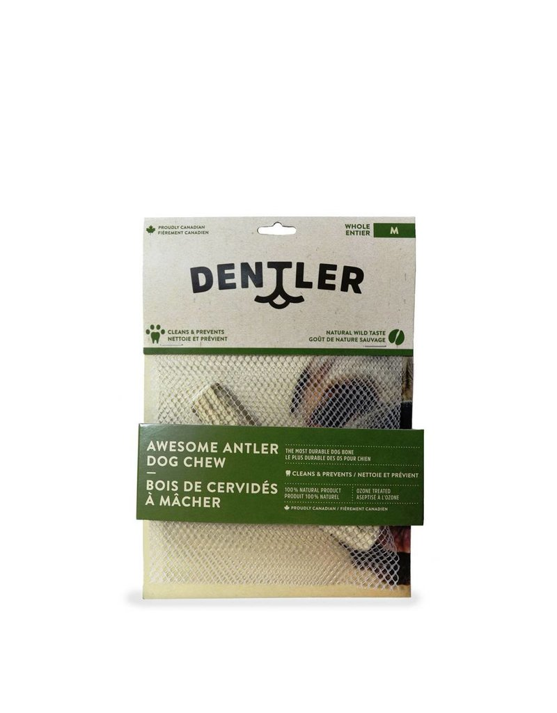 DENTLER Dentler's Split Awesome Antler Dog Chew - Natural Wild Taste