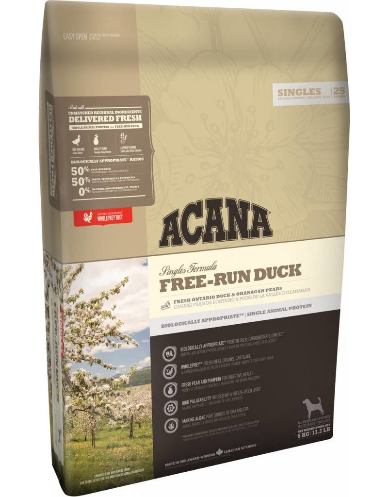 Acana Free-Run Duck Acana Dog Food, Singles Series