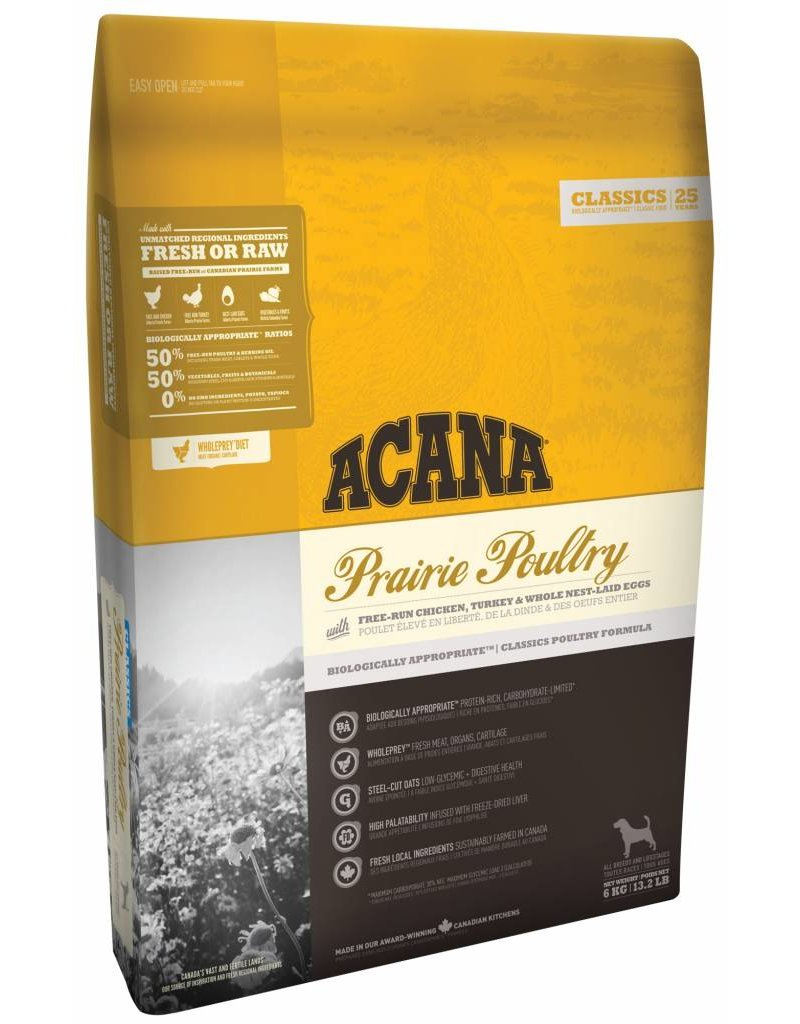 Acana Prairie Poultry Acana Dog Food, Classic Series