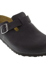 Birkenstock Birkenstock, Boston Oiled Leather, Black , NAR, 44