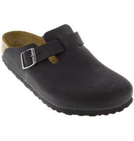 Birkenstock Birkenstock, Boston Oiled Leather, Black , NAR, 44