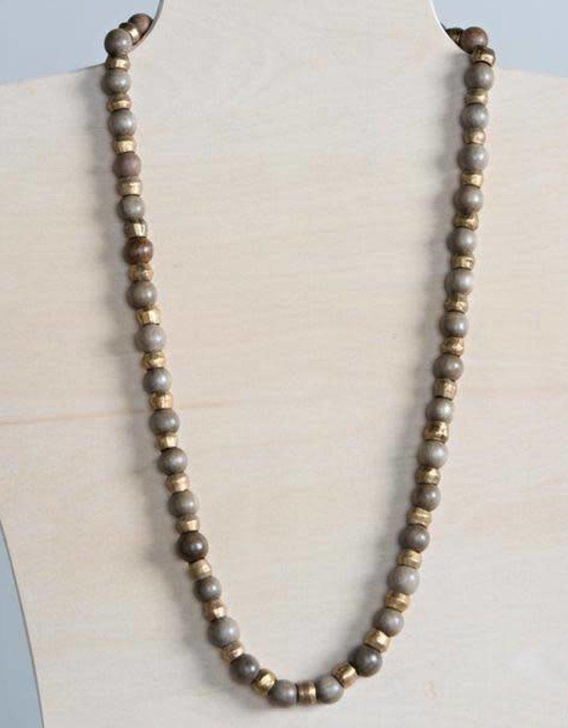 "Stone+Stick Stone + Stick Binary 44"" Necklace"