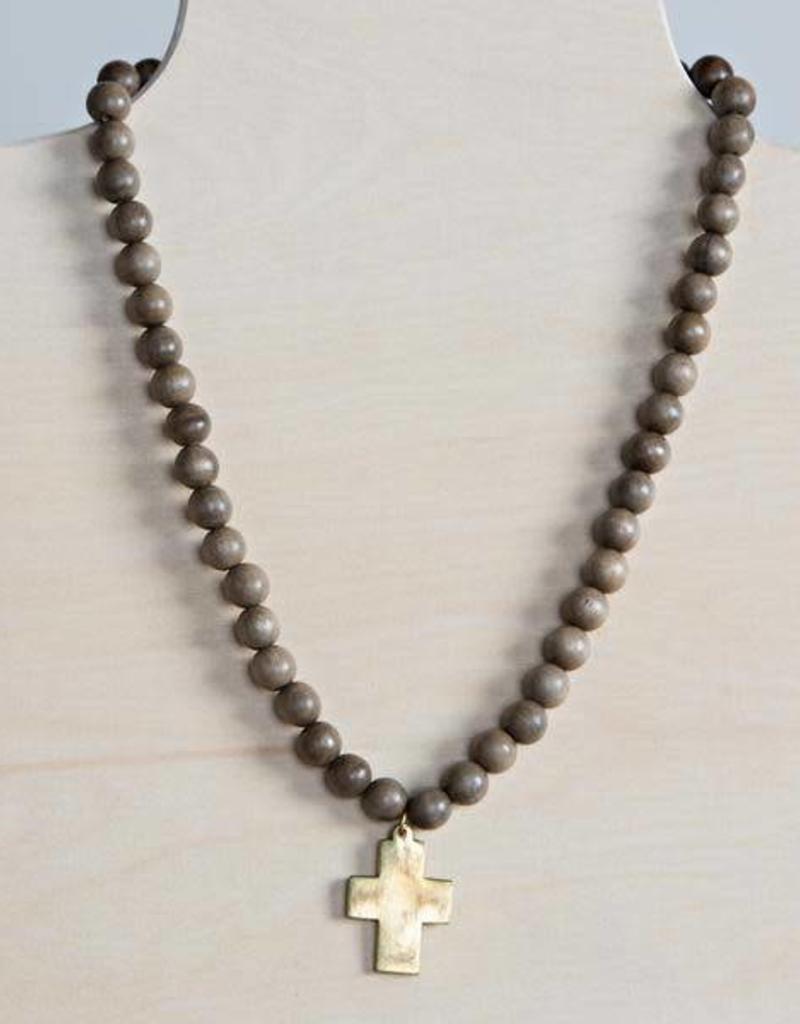 Stone+Stick Stone + Stick Cross Pendant Necklace