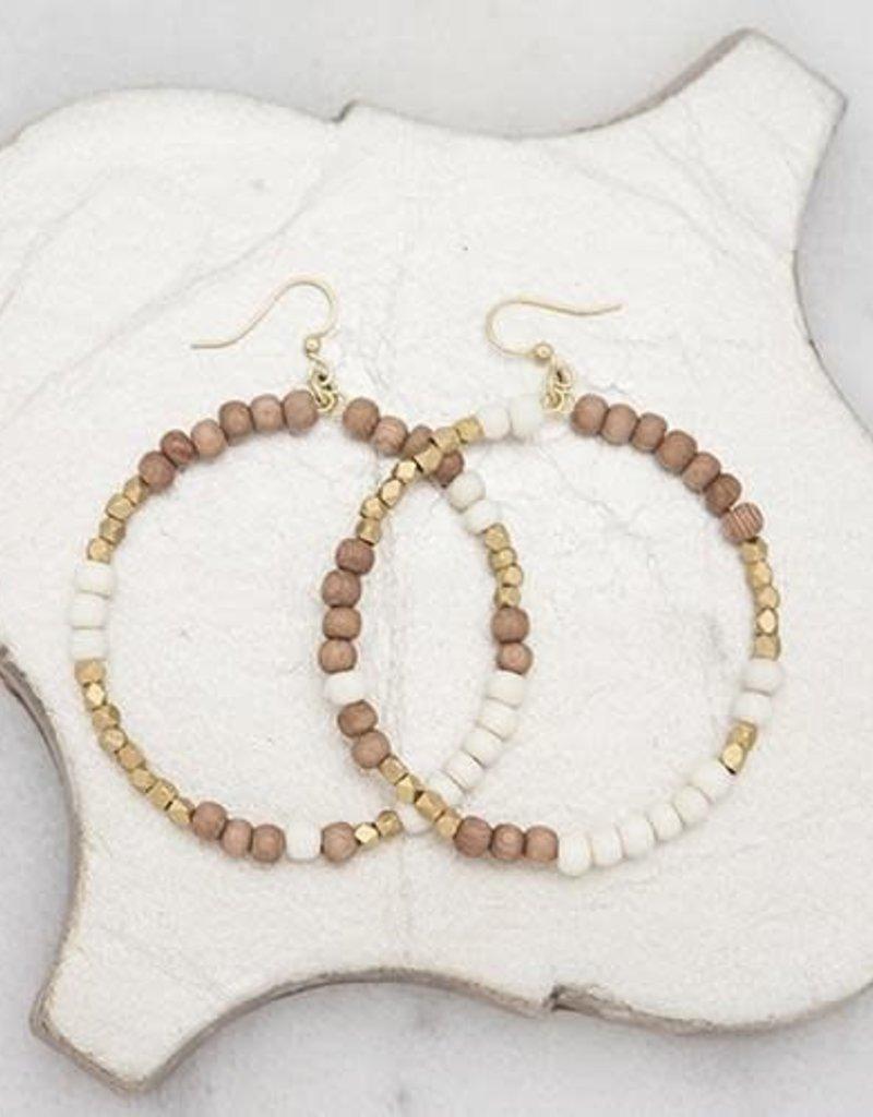 Stone+Stick Stone + Stick Hopscotch Hoop Earrings