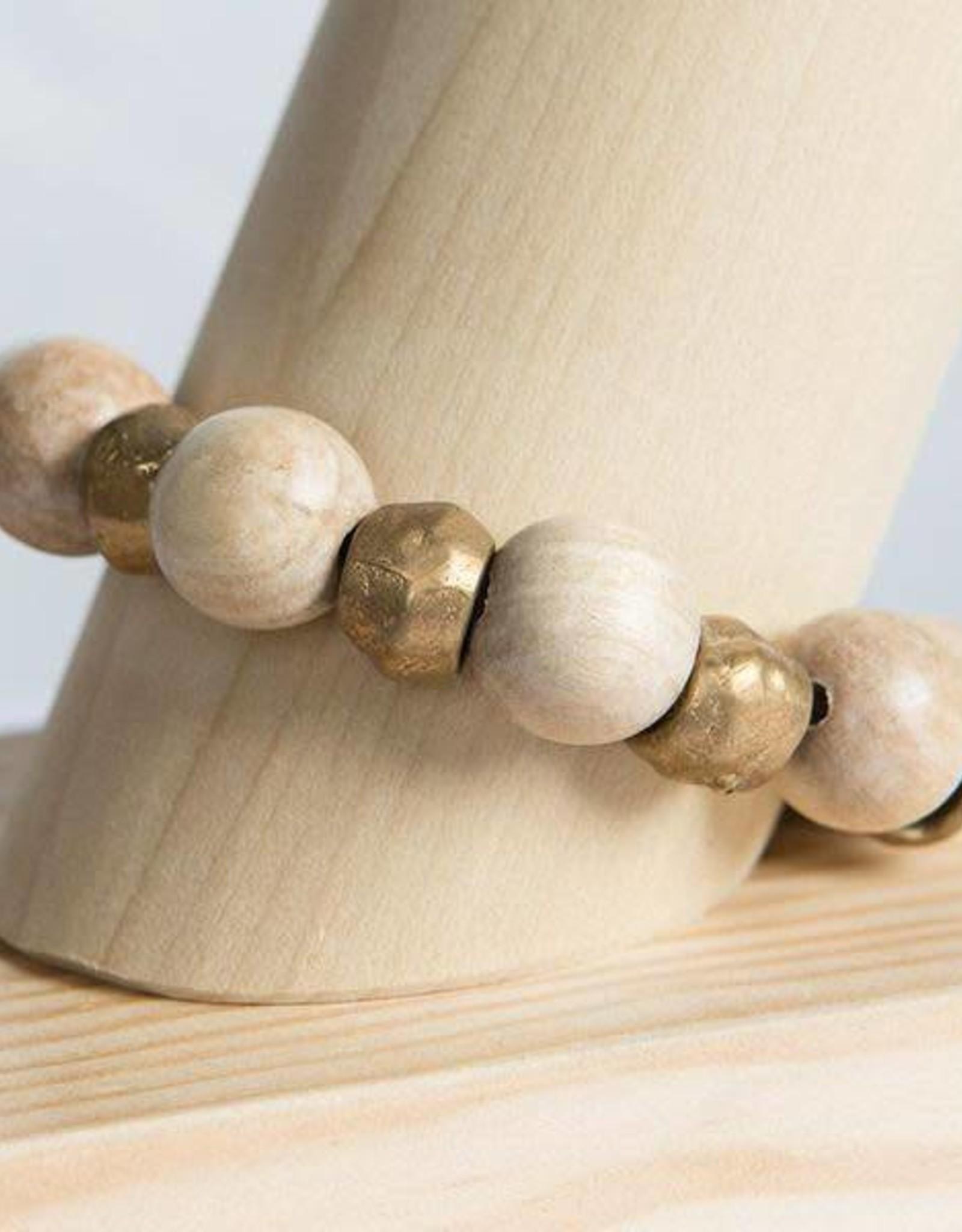 Stone + Stick Binary Stretch Bracelet